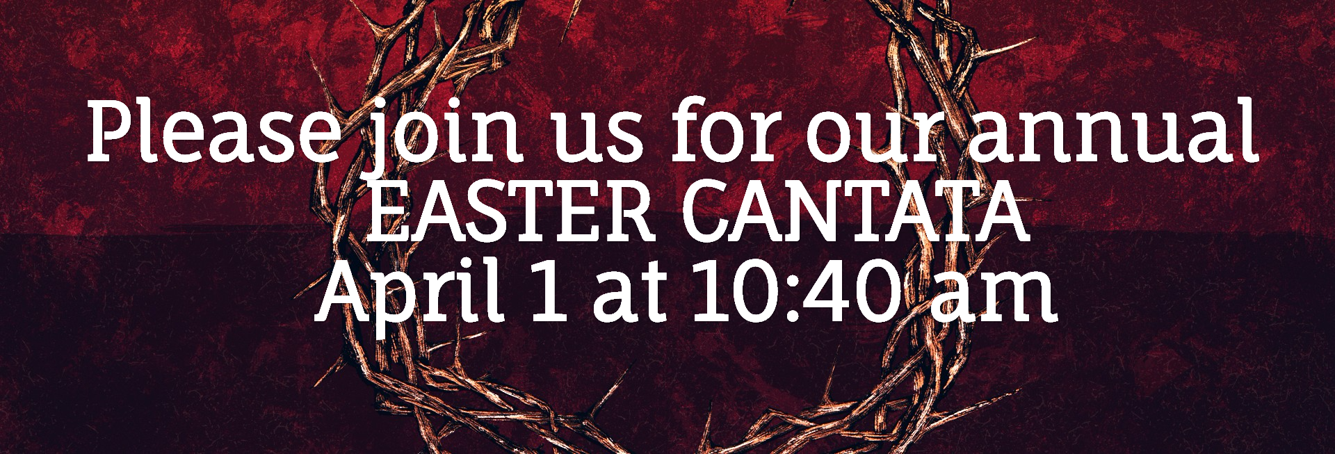 Good Friday Cross and Crown Church Website Banner